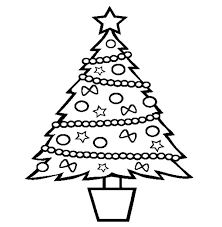 Small Picture One Christmas Trees and One Christmas Gift Coloring Pages Color Luna