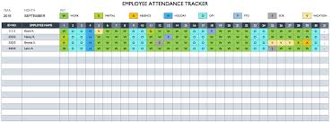 Attendance Tracking Template Cool Free Employee Performance Review Templates Smartsheet