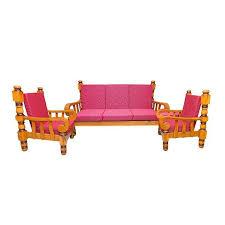 wooden sofa set with cushion sri