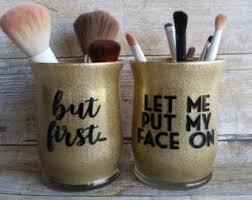 mason jar makeup brush holder. makeup brush holders-makeup jar- organization-makeup brushes- cup mason jar holder