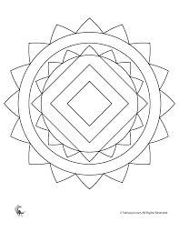Small Picture Mandala Coloring Page for Kids Woo Jr Kids Activities