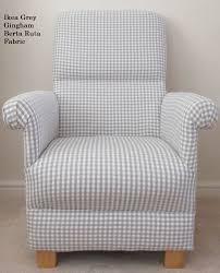 ikea grey gingham fabric chair berta ruta check armchair nursery occasional new