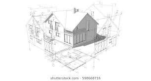 architectural drawings. Architectural Drawings 3d Illustration