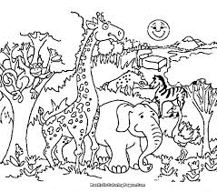 Animals To Color Zoo Animals Coloring For Kids Animal Zoo Colouring
