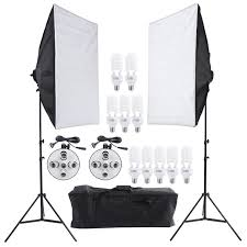 andoer photography studio portrait light lighting tent kit photo equipment