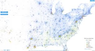 the racial dot map  visually