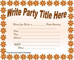 Birthday Party Invitation Template Word Free Invitation Word Templates Under Fontanacountryinn Com