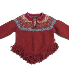 Oilily Girl S Fringed Wool Blend Sweater 2t 3t 98
