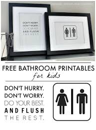 printable bathroom signs for kids95 bathroom