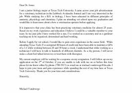 Vet Assistant Cover Letter Beautiful Vet Tech Cover Letter Sample