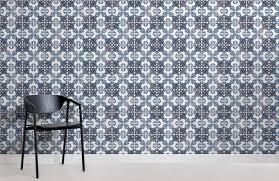 blue black portuguese tile textures room wall murals