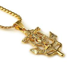 whole new arrival fashion 24k gold plated long necklace cross anchor pendant snake chain hip hop for men women gift opal pendant necklace locket