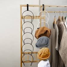 5pcs door wall mounted hat iron rack