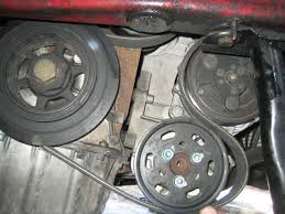 vwvortex com replace 24v vr6 serpentine belt 6 next loop it under the power steering pulley and up and around the a c pulley as shown below
