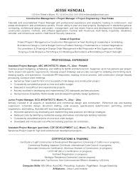 Sample Resume Construction Project Manager Sample Resume For Construction Project Manager