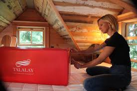 Treehouse masters interior Cabin Treehouse Interior Designer Christina Salway Opens Carton Of Talalay Latex Pillows Inside An Alabama Treehouse She Designed For The Popular Animal Planet Show Furniture World Magazine Luxury Pillows To Be Featured In treehouse Masters Furniture