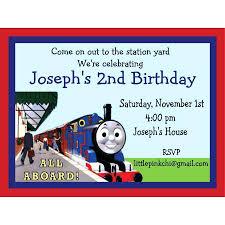 Wonderful Thomas The Train Party Invitations Train Birthday