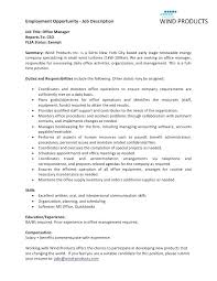 Office Manager Duties Resume Awesome Sample Resume Of Office Manager