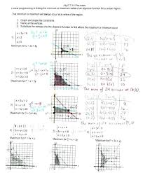 graphing linear equations worksheet with answer key fresh programming algebra 1 worksheets for all 2 writing glencoe