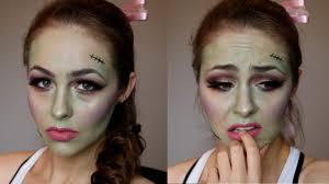 zombie cheerleader halloween makeup tutorial