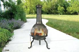 mexican clay chiminea outdoor fireplace large type