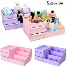 sokano 1341 large capacity cosmetic and table top organizer with drawers purple