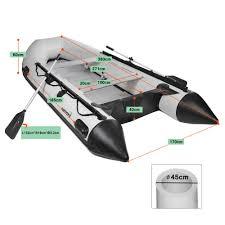 Nemaxx Professional Schlauchboot Zb 380 Cm Paddelboot Für 6 1 Personen Sportboot Ruderboot Aufblasbares Boot Angelboot Mit Aluboden Und 2