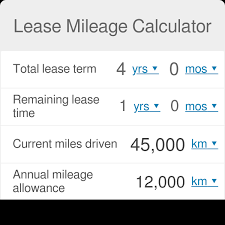 Cost Per Mile Calculator Excel Lease Mileage Calculator Omni