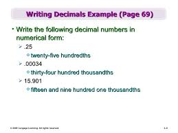 numeric form to word form with decimals chapter 3 part1