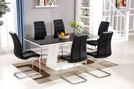white and black dining room table. More Views. Murano High Gloss Black/White Dining Set White And Black Room Table S