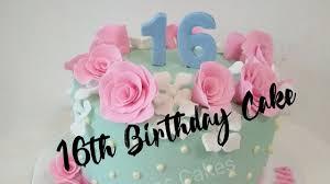 We love you very much, kid. 16th Birthday Cake Youtube