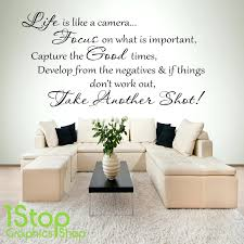 what is wall decal life is like a camera wall sticker quote bedroom home wall  art