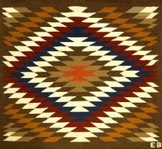 Navajo Pattern Custom Traditional Navajo Rug In Serrated Diamond Pattern