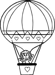 Tổng hợp các bức tranh tô màu khinh khí cầu đẹp nhất cho bé