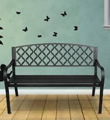 ventura cast iron outdoor bench
