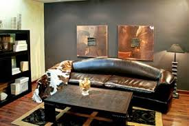 masculine furniture. Wood And Leather Furniture For Office Design In Masculine Style Dark Room Colors, Wood, Bronze Modern Interior Decorating