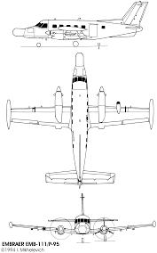 Embraer EMB 110 Bandeirante Blueprint - Download free blueprint for 3D  modeling