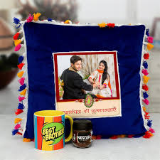 rakhi personalized personalized pillow with coffee and mug bo