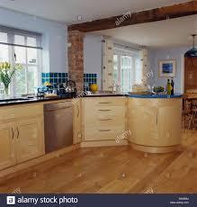Kitchen Floor Units Stainless Steel Dishwasher In Fitted Unit In Modern Kitchen