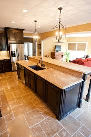 ... Terrific Kitchen Design Using Free Standing Kitchen Island With Seating  : Contempo Ideas For Kitchen Design ...