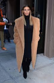 kim kardashian max mara teddy winter coat full length