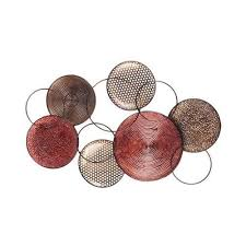 red round plate metal wall art 194 95 on red and brown metal wall art with outdoor metal wall art 328 pinterest