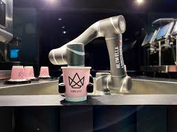 Brewing is in accordance with predefined user preferences—selected ingredients, recipe, water temperature, cooking time, milk froth, a flavor, etc. Meet Ella Singapore S First Robotic Barista Who Can Prepare A Cup Of Coffee For You Tatler Singapore