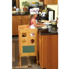Childrens Wooden Kitchen Furniture Kids Seatings Kitchen Helper Step For Kids By Guidecraft Wooden