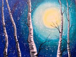 Easy Paintings Acrylic Painting For Beginners Easy Birch Trees Art Tutorial