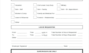 Time Off Request Form Template Free Example 1736