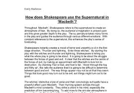 how does shakespeare use the supernatural in macbeth gcse  document image preview
