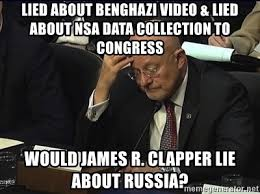 Image result for clapper lied NSA