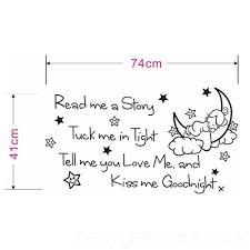 Girl Quotes And Sayings Enchanting Ufengke Read Me A Story Moon Girl Quotes And Sayings Wall Decals