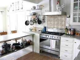 stainless steel top kitchen island breakfast bar white cushioned metal bar stool white painted kitchen island